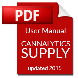 Cannalytics Supply User Manual | Cannalytics Supply